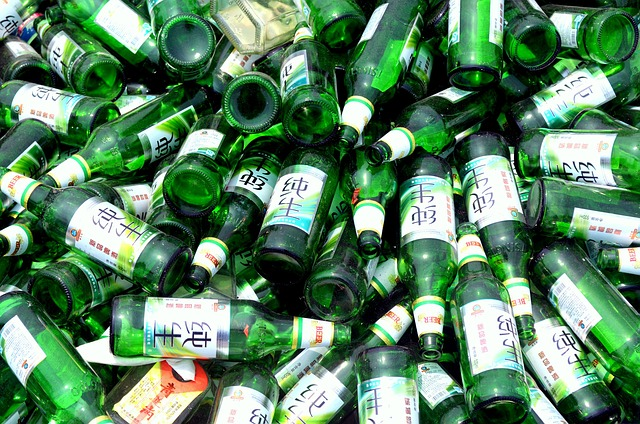 Free bottle bottles beer green glass recycle pile
