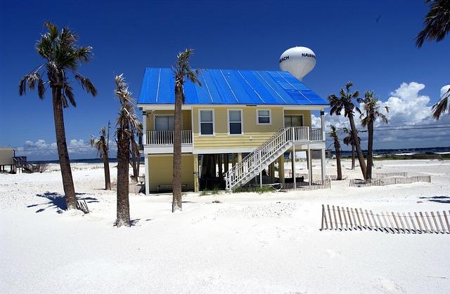 Free pensacola florida sky house home palms palm trees