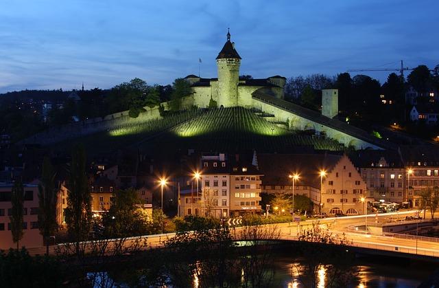 Free schaffhausen munot twilight blue hour dusk