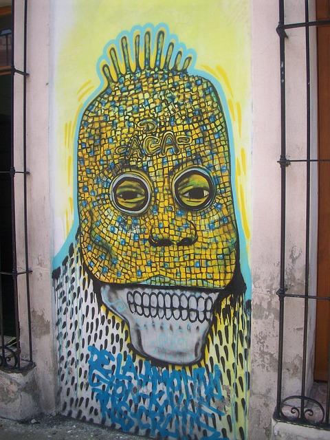 Free graffiti image colorful street oaxaca mexico