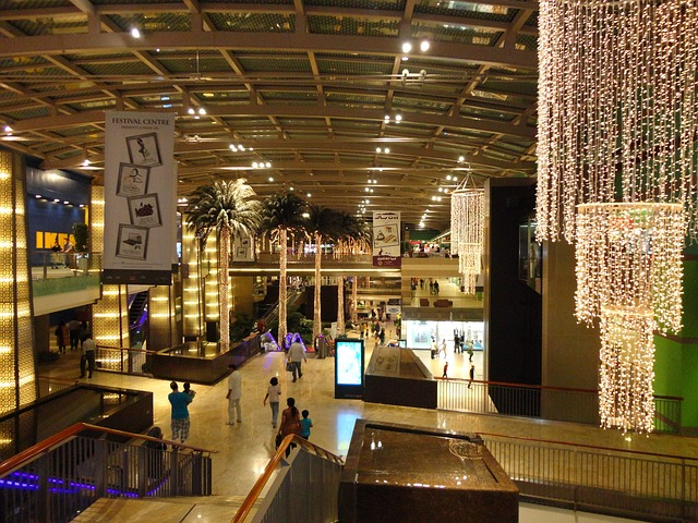 Free dubai shops stores mall building interior people
