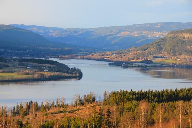 Free norway landscape scenic vista river water