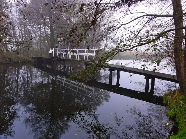 Free Photos: Netherlands stream water bridge reflections nature | David Mark