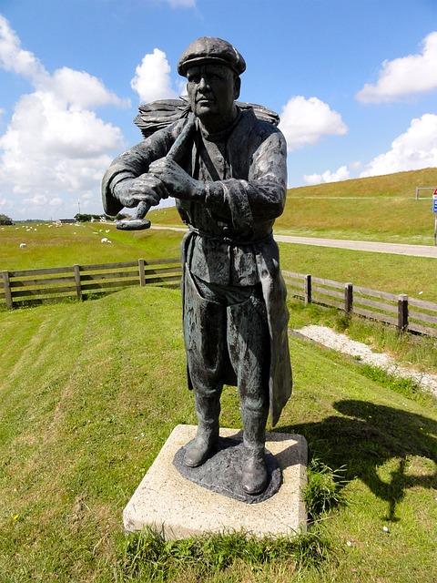 Free netherlands statue monument worker landscape