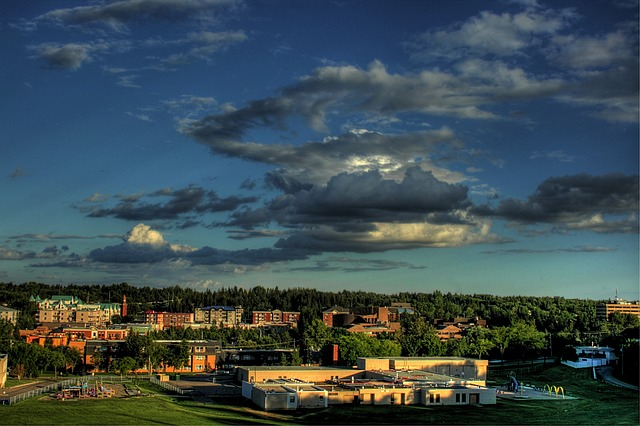 Free st albert canada city town urban landscape nature