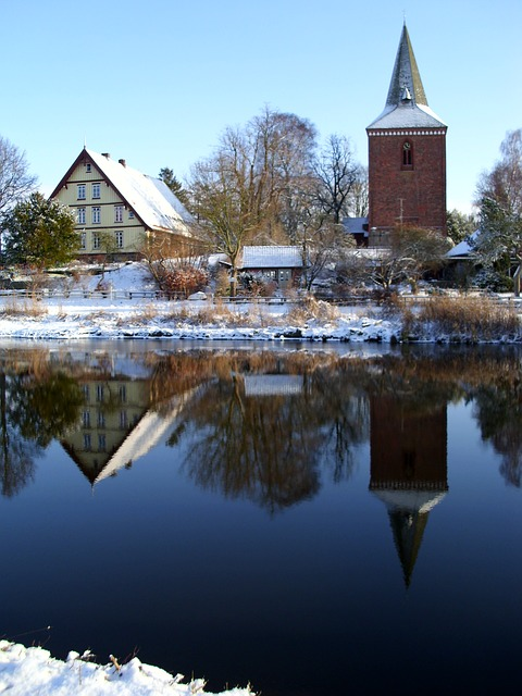 Free winter berkenthin church pastorat mirroring