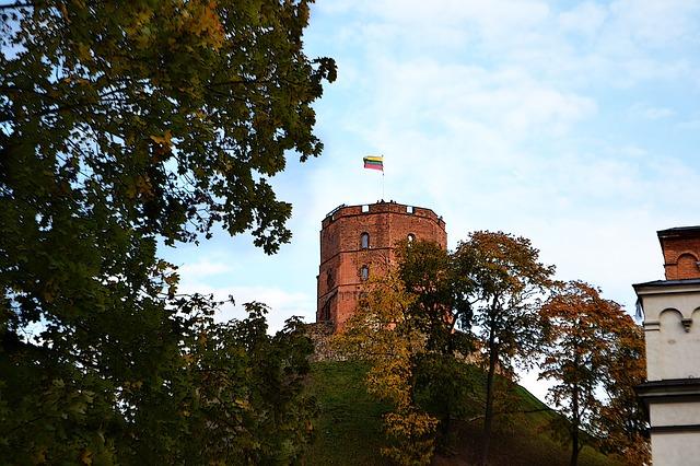 Free architecture autumn building castle gediminas