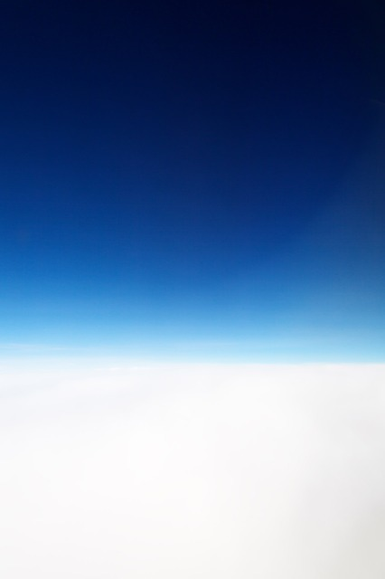 Free above aerial air atmosphere background blue