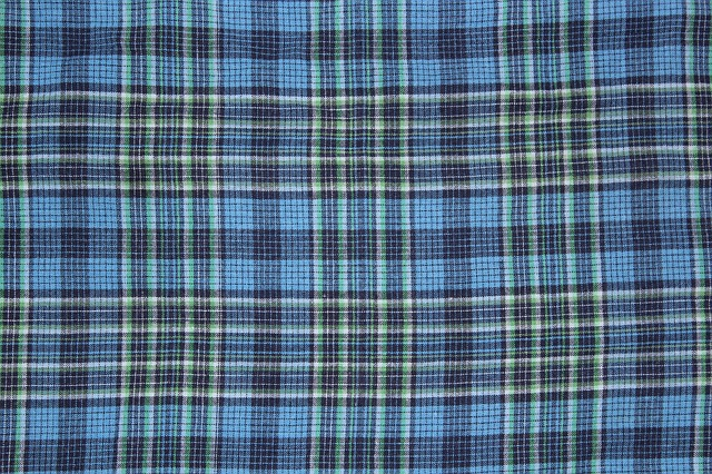 Free checkered background blue background cloth textile