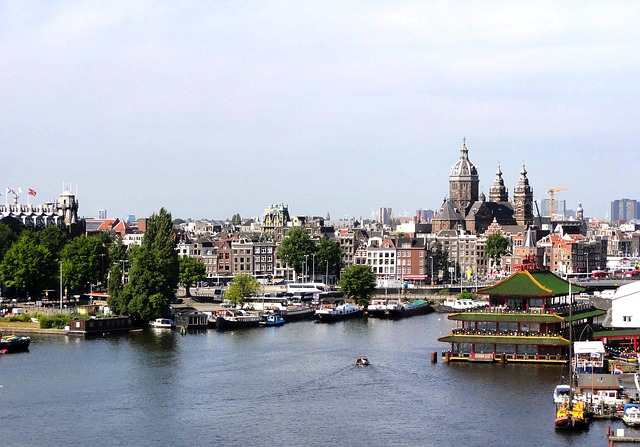 Free amsterdam city buildings skyline architecture bay