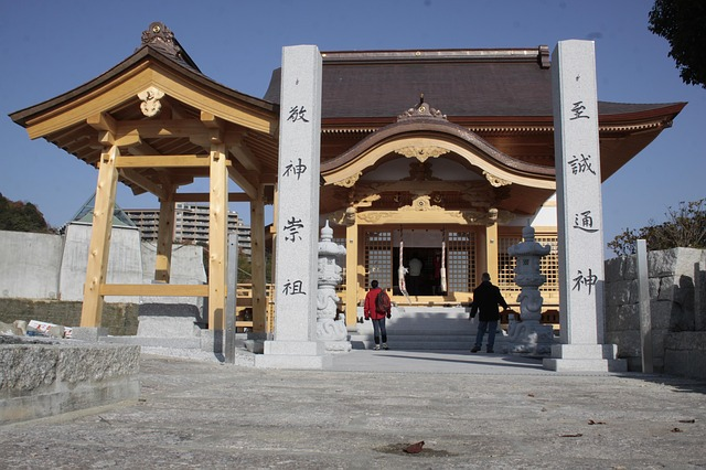 Free iwakuni japan temple faith religion buildings
