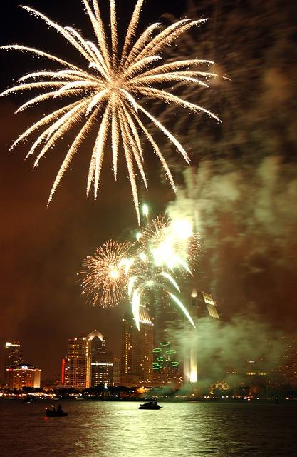 Free san diego california night evening sky fireworks