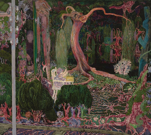 Free jan toorop painting oil on canvas artistic nature