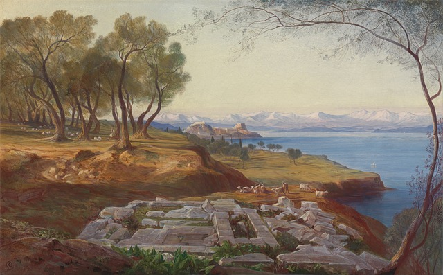 Free edward lear painting oil on canvas artistic nature