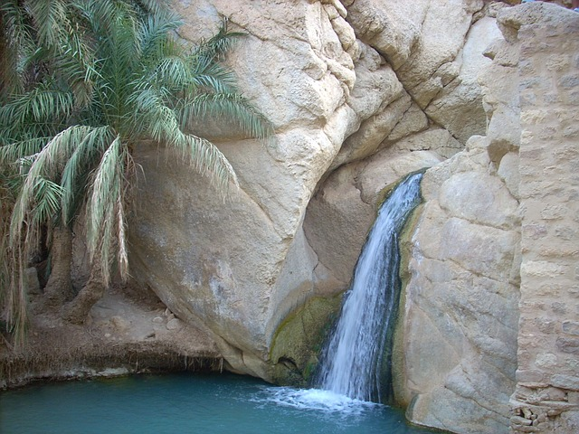 Free tunisia rocks rocky waterfall nature outside