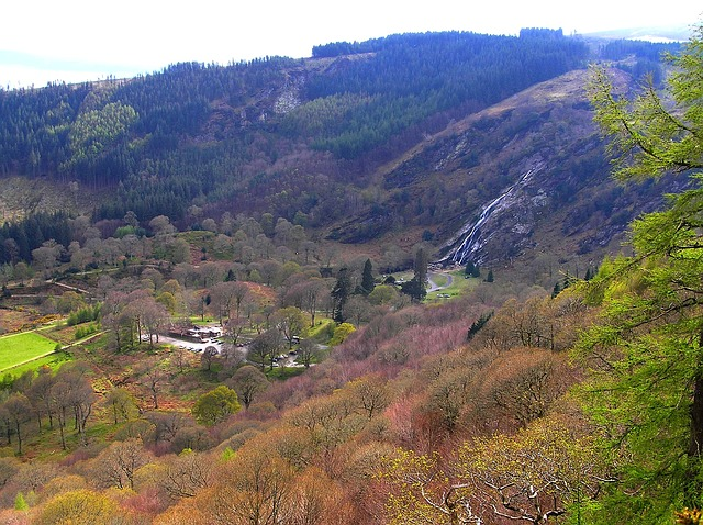Free ireland landscape mountains valley ravine building