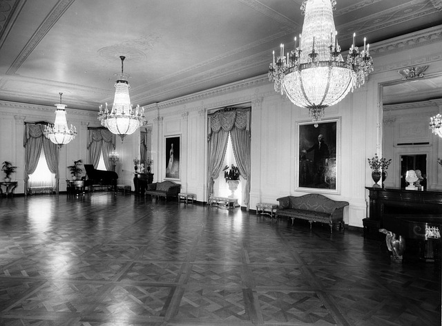 Free the white house black and white 1952 east room