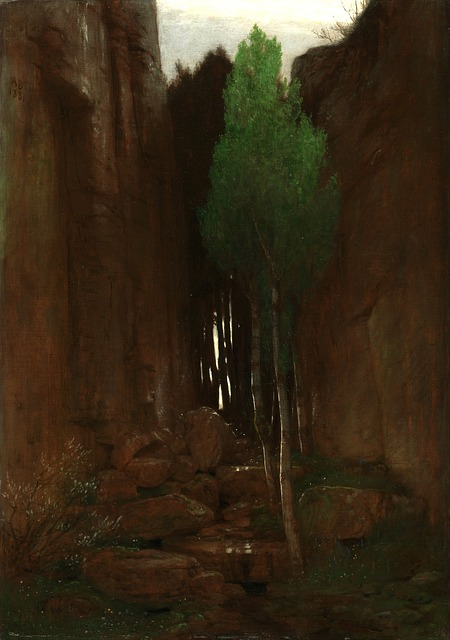 Free arnold bocklin painting art oil on canvas nature