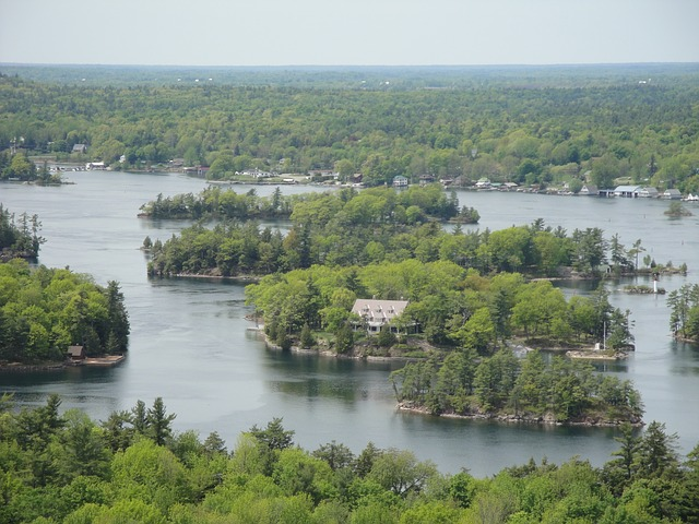Free thousand island island river nature america forest