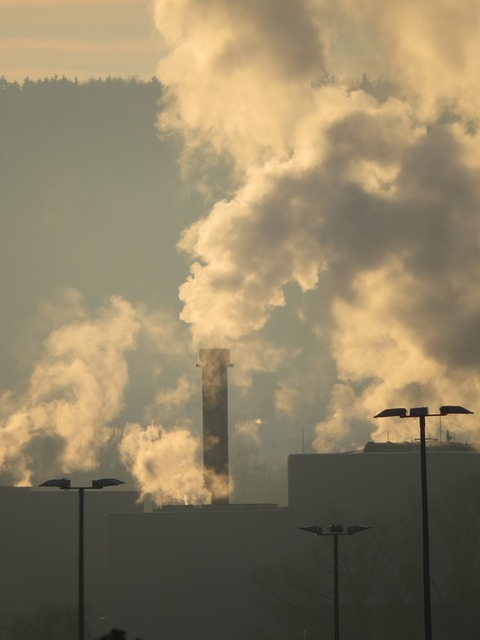 Free industry smoke chimney pollution exhaust gases