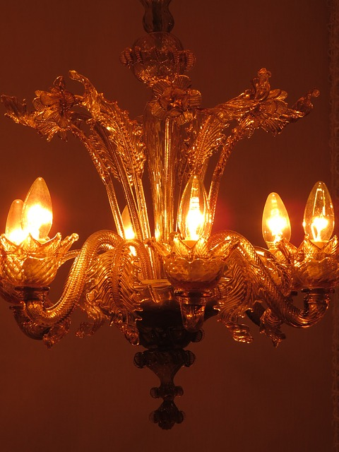 Free chandelier lamp candles lighting bulbs light