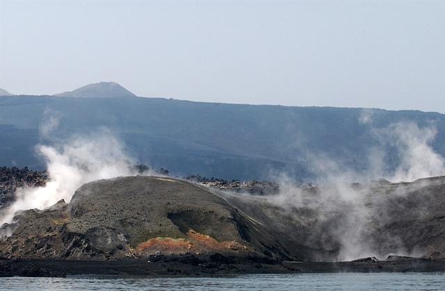 Free yemini coast coastline steam volcanic eruption