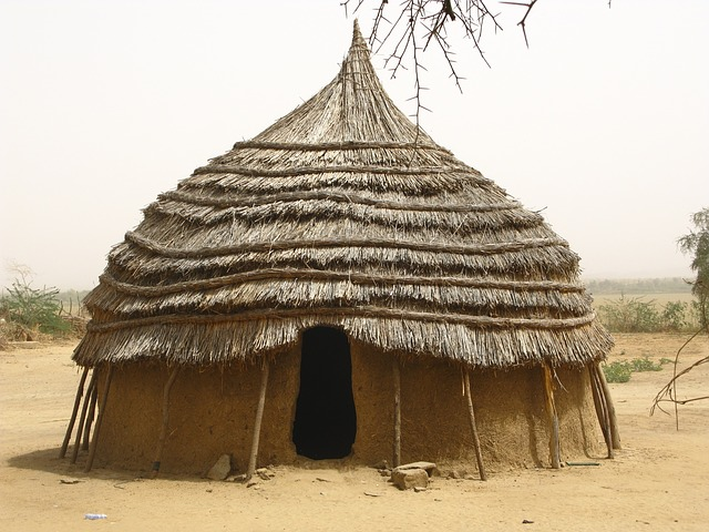 Free niger africa hut home house mud straw village