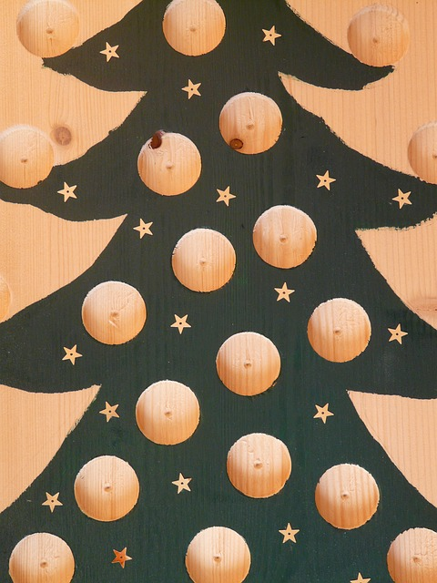 Free christmas tree advent calendar handicraft
