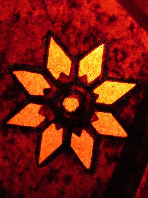 Free lighting star seem red reddish yellowish