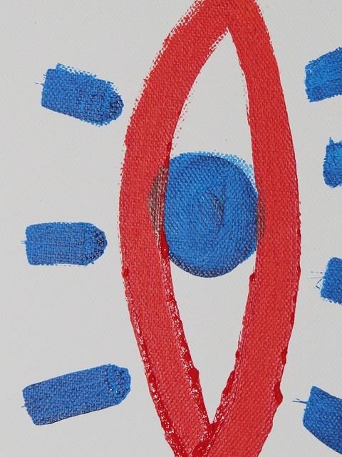 Free Photos: Image paint painting eye red blue abstract art | Hans Braxmeier
