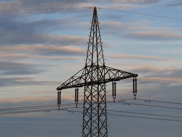 Free strommast power line sky abendstimmung silhouette