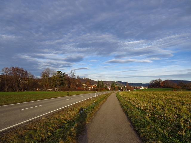 Free Photos: Away road sunny alb swabian alb sky clouds | Hans Braxmeier