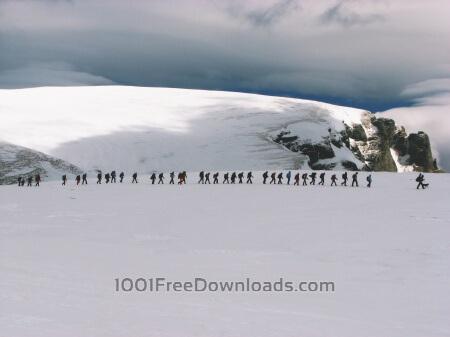 Free Sunny mountain landscape