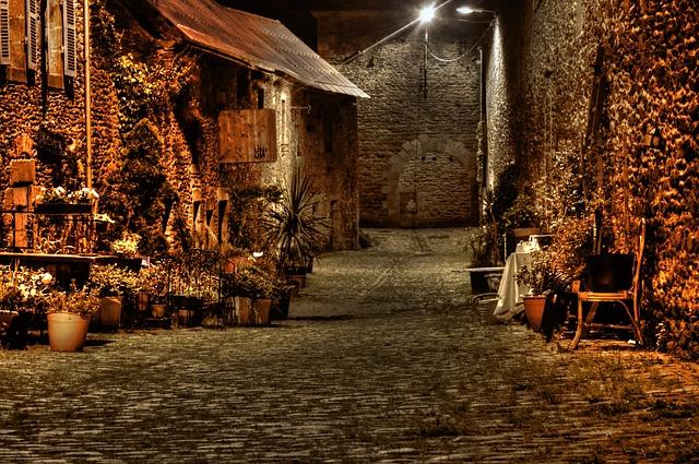 Free street lane night old pavement pierre floor lamp