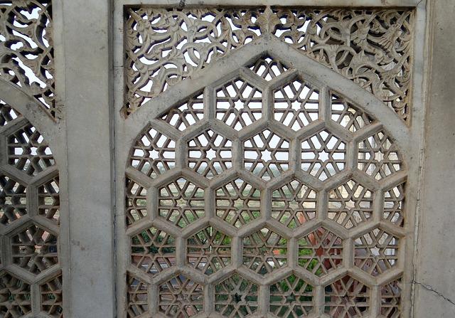 Free latticework marble white agra fort musamman burj