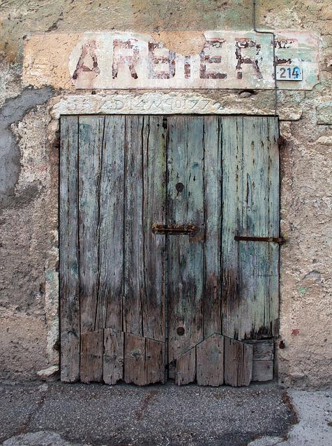 Free door old barber shop old barber's shop doorway