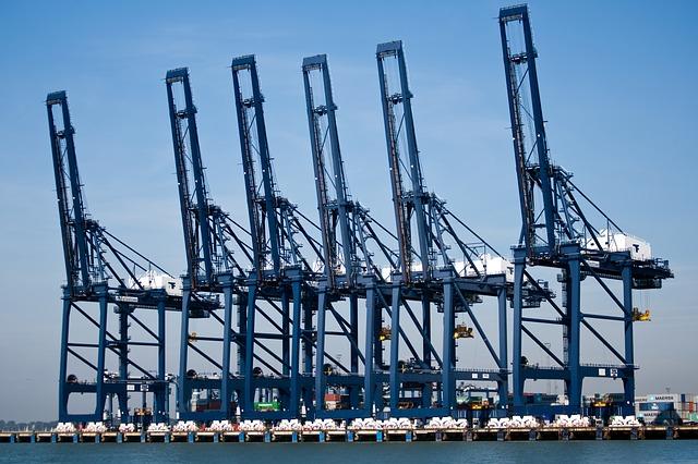 Free felixstowe container port port cranes blue cranes