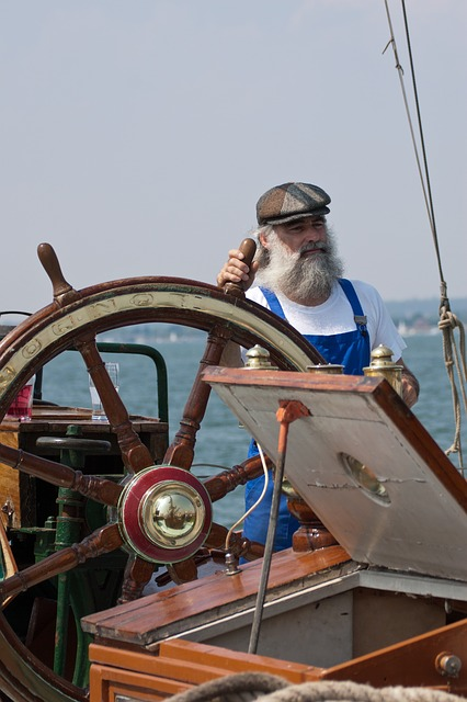 Free sailor fisherman man person thames barge skipper