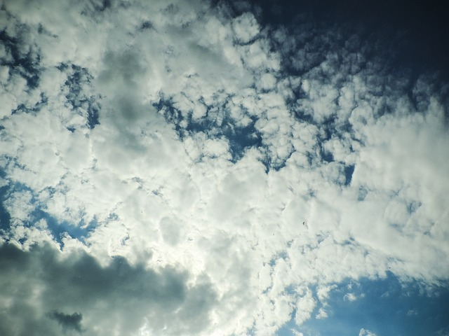 Free clouds sky cloud the background view blue white