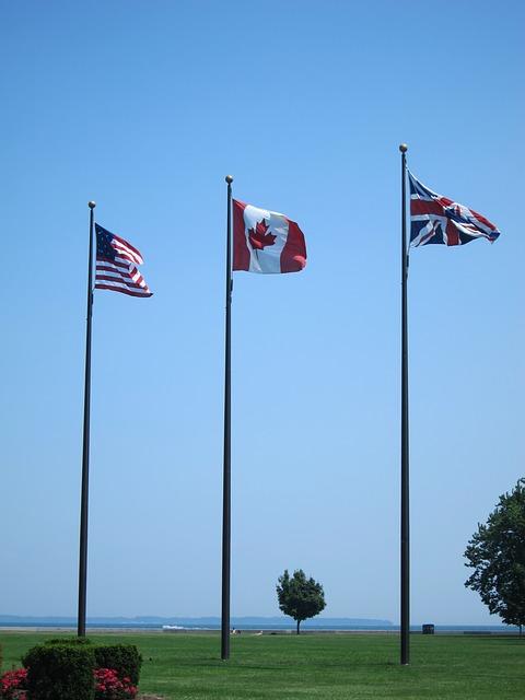 Free flag sky america canada britain wind patriotism