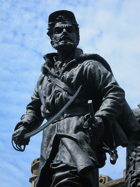 Free soldier bronze statue monument memorial war