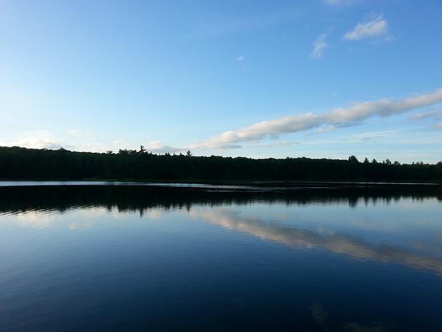 Free lake reflection shore landscape nature scenic