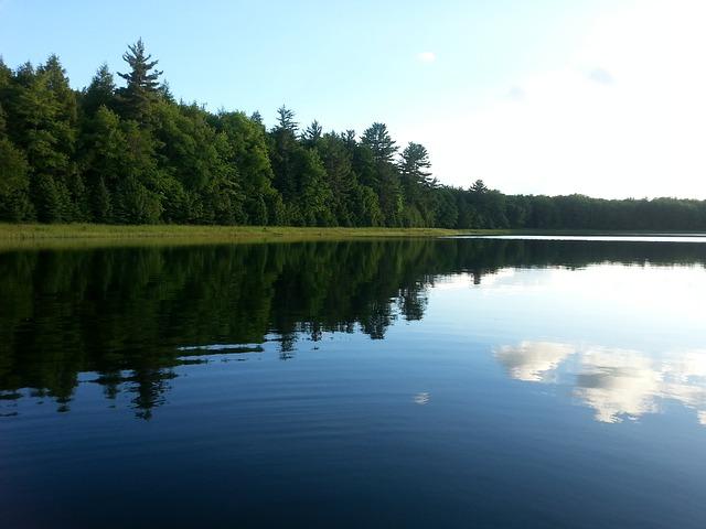 Free lake reflection shore landscape shoreline nature