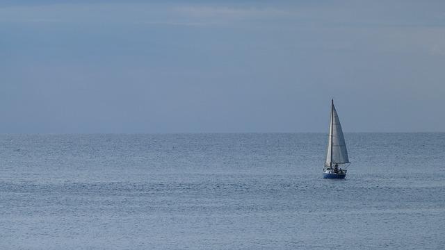 Free sailing boat sea sail water mood ship