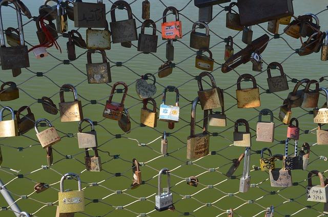 Free lock clasps bridge padlock love in love bunch