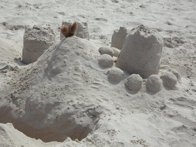 Free sandburg sand by the sea beach holiday play