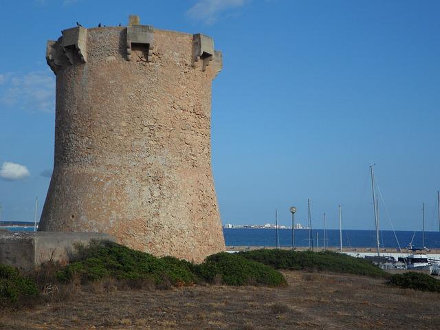 Free sa rapita tower stone tower mediterranean oleander