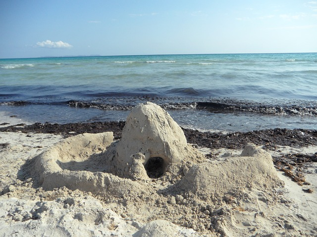 Free sandburg sand beach beach fortress holiday sand