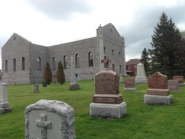 Free churchyard cemetery ruins graveyard burial