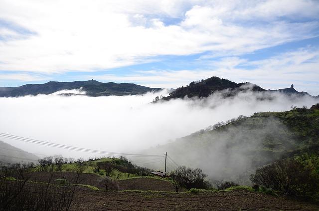Free gran canaria canary spain fog misty hills